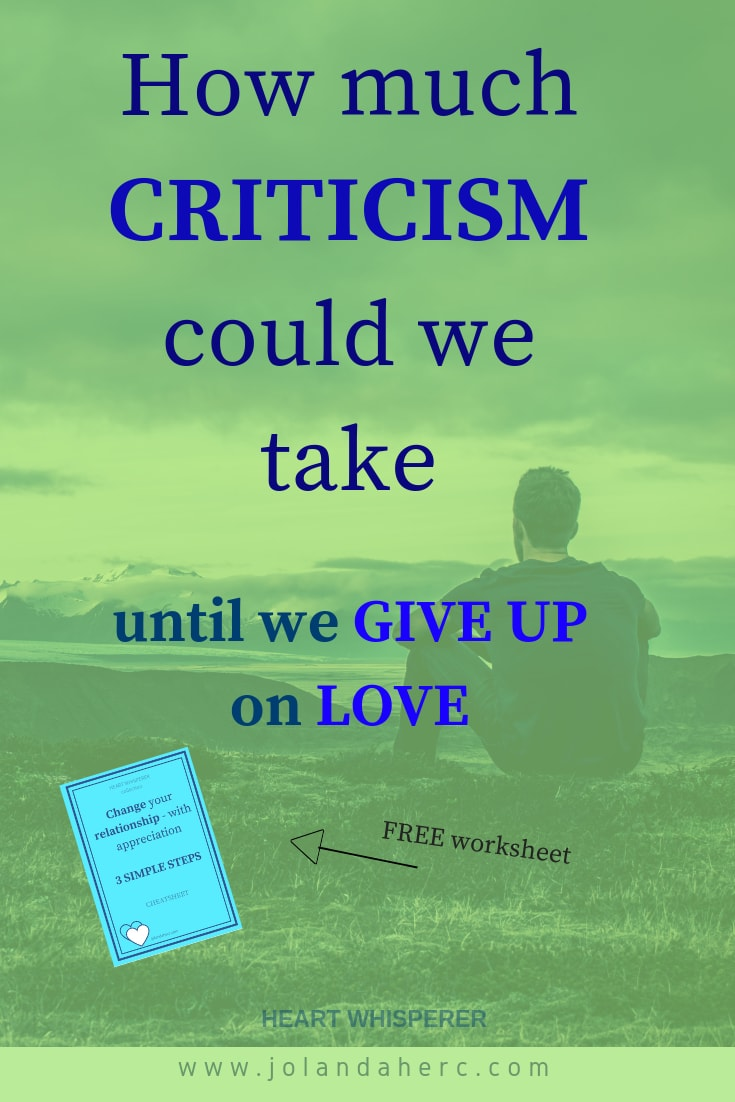 How to replace a habit of criticism with a habit of appreciation. Click through to read how and download free worksheets to help you develop the new habit. #saveYourMarriageBeforeItStarts, #ConstantCriticismRelationships, #AppreciationRelationshipShowing #RelationshipSolutions